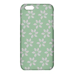 Pink Flowers On Light Green iPhone 6/6S TPU Case