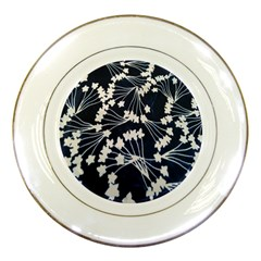 Flower Blue Jpeg Porcelain Plates