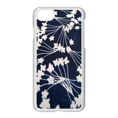 Flower Blue Jpeg Apple Iphone 7 Seamless Case (white)