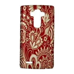 Red Flower White Wallpaper Organic LG G4 Hardshell Case