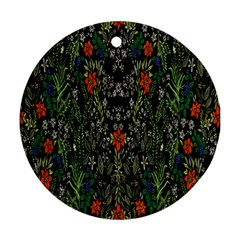 Detail Of The Collection s Floral Pattern Round Ornament (two Sides)