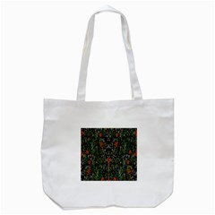 Detail Of The Collection s Floral Pattern Tote Bag (white)