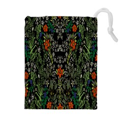 Detail Of The Collection s Floral Pattern Drawstring Pouches (Extra Large)