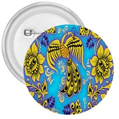 Khokhloma Birds Flowers 3  Buttons