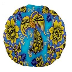 Khokhloma Birds Flowers Large 18  Premium Round Cushions