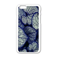 Leaf Purple Apple Iphone 6/6s White Enamel Case