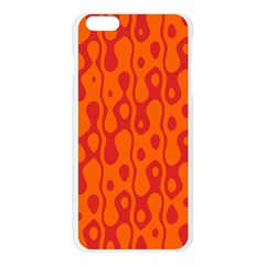 Orange Apple Seamless iPhone 6 Plus/6S Plus Case (Transparent)