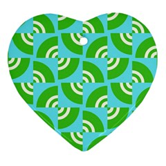 Easy Peasy Lime Squeezy Green Ornament (heart)