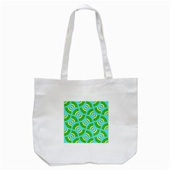 Easy Peasy Lime Squeezy Green Tote Bag (white)
