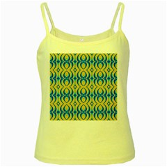 Blue Yellow Yellow Spaghetti Tank