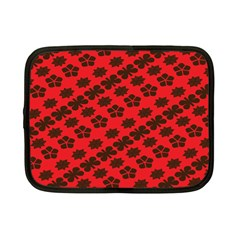 Diogonal Flower Red Netbook Case (small)