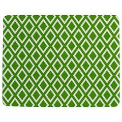 Diamonds Green White Jigsaw Puzzle Photo Stand (Rectangular)