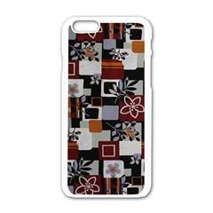 Flower 1 Apple Iphone 6/6s White Enamel Case