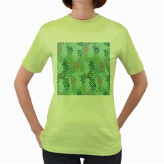 Flower Women s Green T Shirt