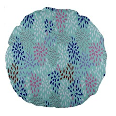 Flower Large 18  Premium Round Cushions
