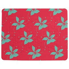 Flower Green Red Jigsaw Puzzle Photo Stand (Rectangular)