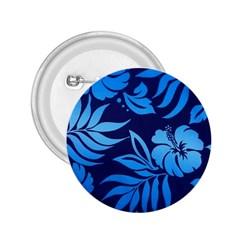 Flower Blue 2 25  Buttons