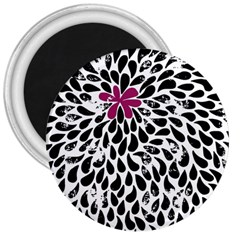 Flower Simple Pink 3  Magnets