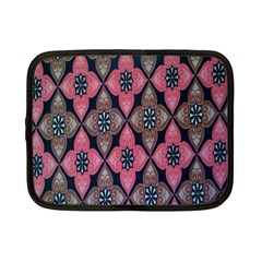 Flower Pink Gray Netbook Case (small)