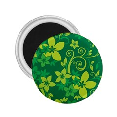 Flower Yellow Green 2 25  Magnets