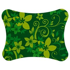 Flower Yellow Green Jigsaw Puzzle Photo Stand (Bow)