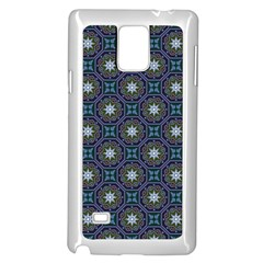 Flower Star Gray Samsung Galaxy Note 4 Case (white)