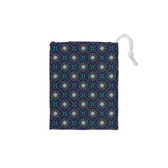 Flower Star Gray Drawstring Pouches (XS)
