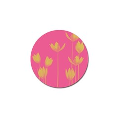 Flower Yellow Pink Golf Ball Marker (4 Pack)