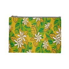 Flower Yellow Cosmetic Bag (large)