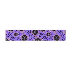 Flower Floral Purple Flano Scarf (Mini)