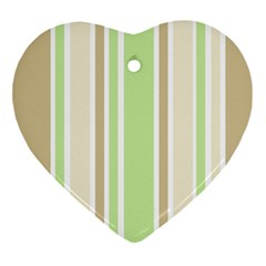 Gray Green Ornament (heart)