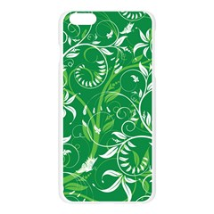 Leaf Flower Butterfly Green Apple Seamless iPhone 6 Plus/6S Plus Case (Transparent)