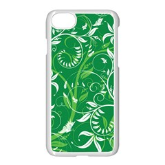 Leaf Flower Butterfly Green Apple Iphone 7 Seamless Case (white)