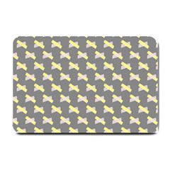 Hearts And Yellow Crossed Washi Tileable Gray Small Doormat