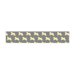 Hearts And Yellow Crossed Washi Tileable Gray Flano Scarf (Mini)