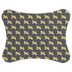 Hearts And Yellow Crossed Washi Tileable Gray Jigsaw Puzzle Photo Stand (Bow)