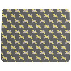 Hearts And Yellow Crossed Washi Tileable Gray Jigsaw Puzzle Photo Stand (Rectangular)