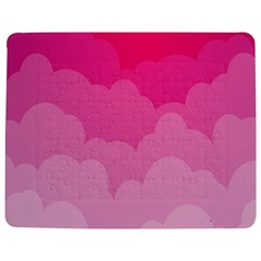 Lines Pink Cloud Jigsaw Puzzle Photo Stand (Rectangular)