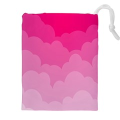 Lines Pink Cloud Drawstring Pouches (XXL)