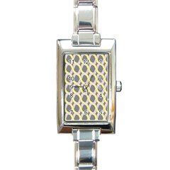 Hearts And Yellow Washi Zigzags Tileable Rectangle Italian Charm Watch