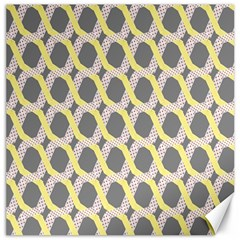 Hearts And Yellow Washi Zigzags Tileable Canvas 20  X 20