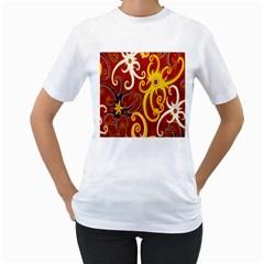 Batik Jogja Java Women s T Shirt (white)