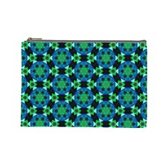 Flower Green Cosmetic Bag (large)