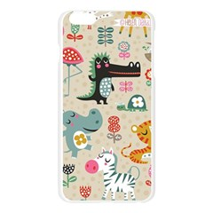 Cute small cartoon characters Apple Seamless iPhone 6 Plus/6S Plus Case (Transparent)