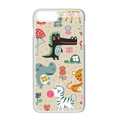 Cute Small Cartoon Characters Apple Iphone 7 Plus White Seamless Case