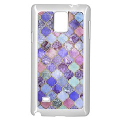 Gorgeous Blue Moroccan Mosaic Samsung Galaxy Note 4 Case (white)