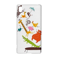 Cute cartoon animals Sony Xperia Z3+
