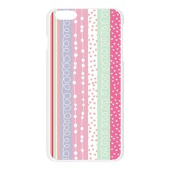 Pastel colored  wood Apple Seamless iPhone 6 Plus/6S Plus Case (Transparent)
