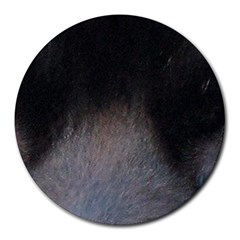 black to gray fade Round Mousepad