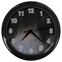 black to gray fade Wall Clock (Black)